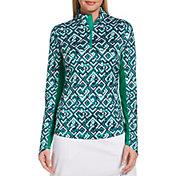 Callaway Women's UV Printed Long Sleeve ¼ Zip Golf Pullover