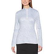 Callaway Women's Swing Tech Floral Print Sun Protection Long Sleeve Golf Shirt