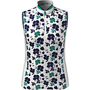 Callaway Women's Printed Floral Sleeveless Golf Polo Shirt