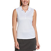 Callaway Women's Essential Solid Knit Sleeveless Golf Polo