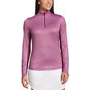 Callaway Women's Swing Tech Mini Leaf ¼ Zip Golf Pullover