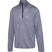 Dallas Cowboys Merchandising Men's Marvin Navy Quarter-Zip Pullover