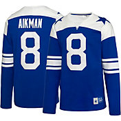 Dallas Cowboys Merchandising Men's Troy Aikman #8 Retro Royal Long Sleeve Shirt
