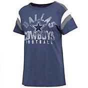 Dallas Cowboys Merchandising Women's Jolie Color Block Navy T-Shirt