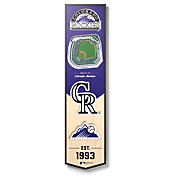 You The Fan Colorado Rockies 6''x19'' 3-D Banner