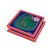 You the Fan Texas Rangers Stadium View Coaster Set