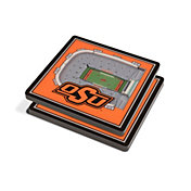 You the Fan Oklahoma State Cowboys Stadium View Coaster Set
