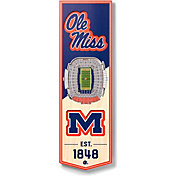 """You The Fan Ole Miss Rebels 6""""x19"""" 3-D Banner"""