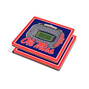 You the Fan Ole Miss Rebels Stadium View Coaster Set