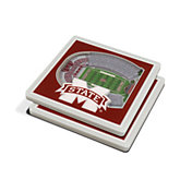 You the Fan Mississippi State Bulldogs Stadium View Coaster Set