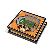 You the Fan Missouri Tigers Stadium View Coaster Set