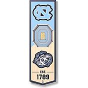 "You The Fan North Carolina Tar Heels 6""x19"" 3-D Banner"