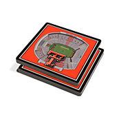 You the Fan Texas Tech Red Raiders Stadium View Coaster Set
