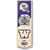 """You The Fan Washington Huskies 6""""x19"""" 3-D Banner"""