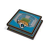 You the Fan Jacksonville Jaguars Stadium View Coaster Set