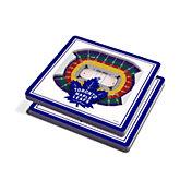You the Fan Toronto Maple Leafs Stadium View Coaster Set