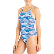 Dolfin Women's Uglies Underwater Camo Workout One Piece Swimsuit
