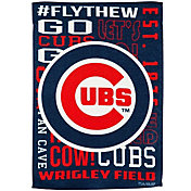 Evergreen Chicago Cubs Fan Rule Garden Flag