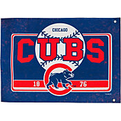 Evergreen Chicago Cubs Linen Estate Flag