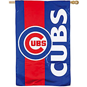Evergreen Chicago Cubs Embellish House Flag