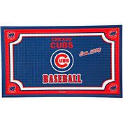 Evergreen Chicago Cubs Embossed Door Mat