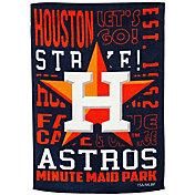 Evergreen Houston Astros Fan Rule Garden Flag