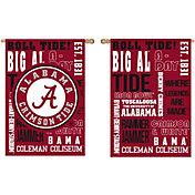 Evergreen Alabama Crimson Tide Fan Rule House Flag