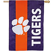 Evergreen Clemson Tigers Embellish House Flag