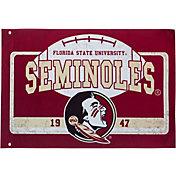 Evergreen Florida State Seminoles Linen Estate Flag