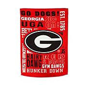 Evergreen Georgia Bulldogs Fan Rule House Flag