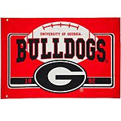 Evergreen Georgia Bulldogs Linen Estate Flag