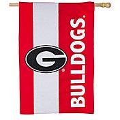 Evergreen Georgia Bulldogs Embellish House Flag