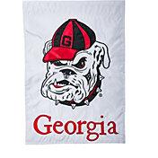 Evergreen Georgia Bulldogs Applique Garden Flag