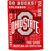 Evergreen Ohio State Buckeyes Fan Rule Garden Flag