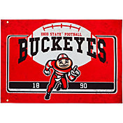 Evergreen Ohio State Buckeyes Linen Estate Flag
