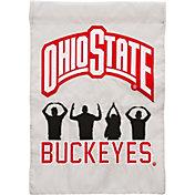 Evergreen Ohio State Buckeyes Applique Garden Flag