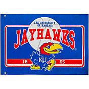 Evergreen Kansas Jayhawks Linen Estate Flag