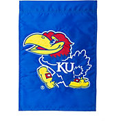 Evergreen Kansas Jayhawks Applique Garden Flag