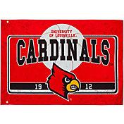 Evergreen Louisville Cardinals Linen Estate Flag