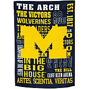 Evergreen Michigan Wolverines Fan Rule Garden Flag