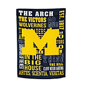 Evergreen Michigan Wolverines Fan Rule House Flag