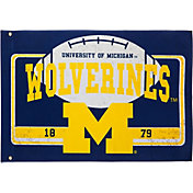 Evergreen Michigan Wolverines Linen Estate Flag