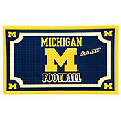 Evergreen Michigan Wolverines Embossed Door Mat