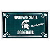 Evergreen Michigan State Spartans Embossed Door Mat