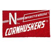 Evergreen Nebraska Cornhuskers Coir Punch Mat