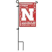 Evergreen Nebraska Cornhuskers Fan Rule Garden Flag