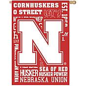 Evergreen Nebraska Cornhuskers Fan Rule House Flag