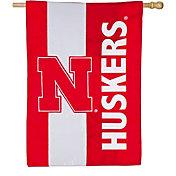Evergreen Nebraska Cornhuskers Embellish House Flag