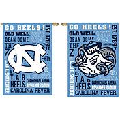 Evergreen North Carolina Tar Heels Fan Rule House Flag