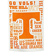 Evergreen Tennessee Volunteers Fan Rule Garden Flag